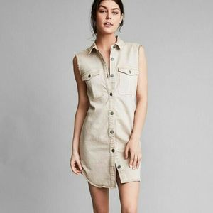 Calvin Klein tan denim dress